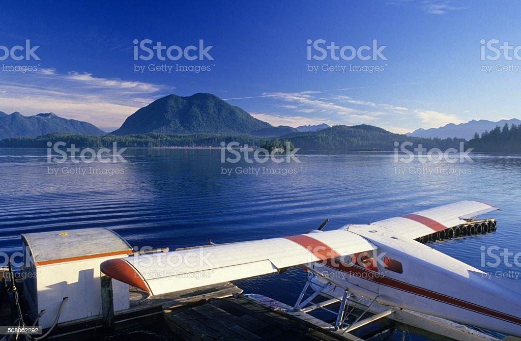 Float Plane at Tofino, British Columbia, Canada stock photo