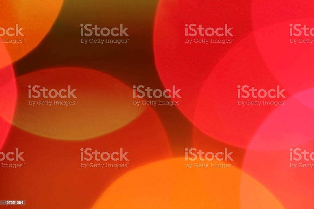 Floating abstract orange and pink shapes stock photo