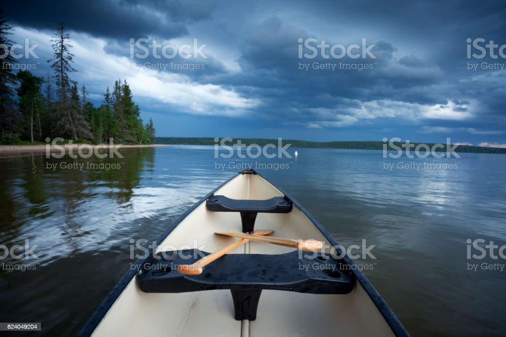 Floating Around Prince Albert National Park stock photo
