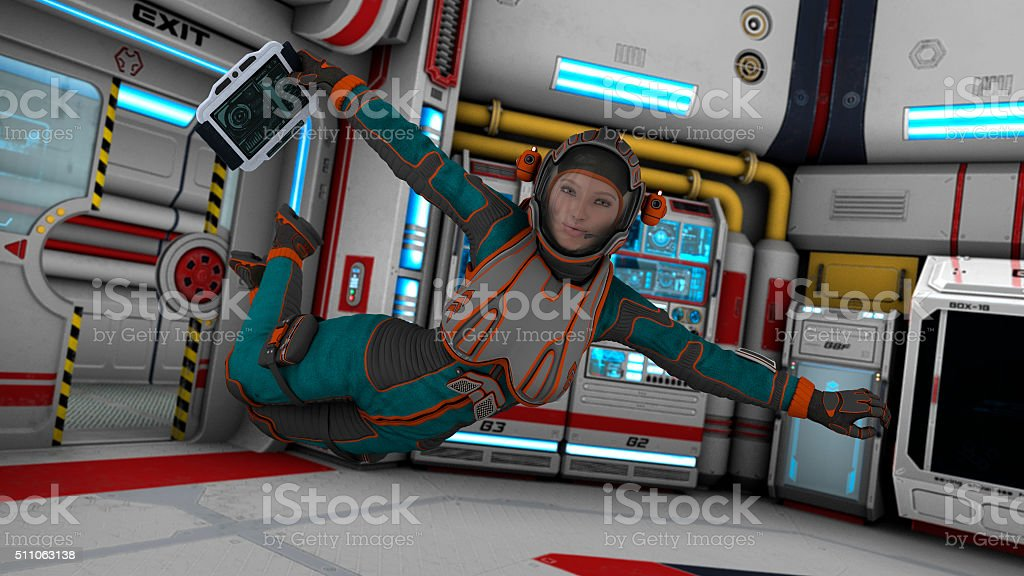 Floating Astronaut stock photo