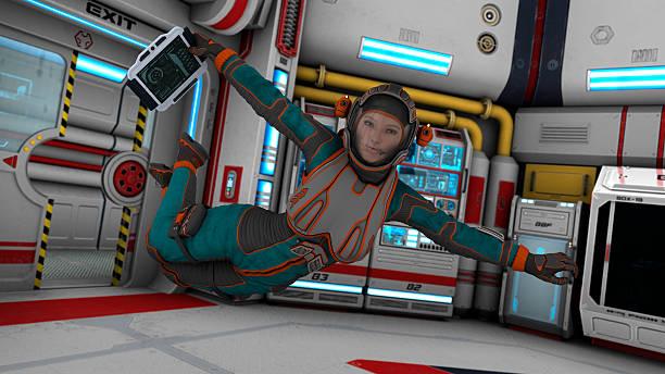 Floating Astronaut stock photo