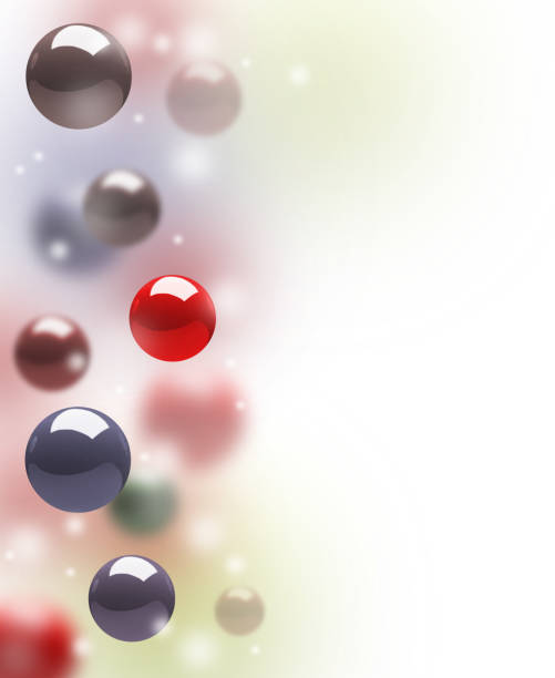 floating atoms stock photo