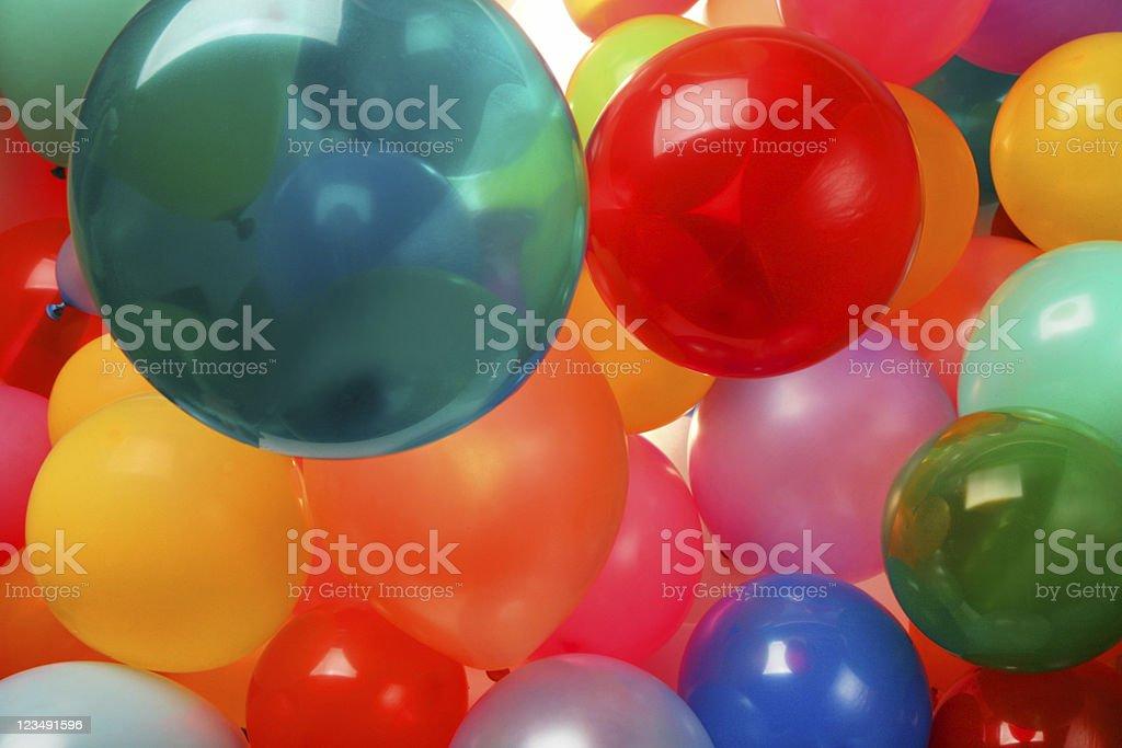 Floating balloons royalty-free stock photo