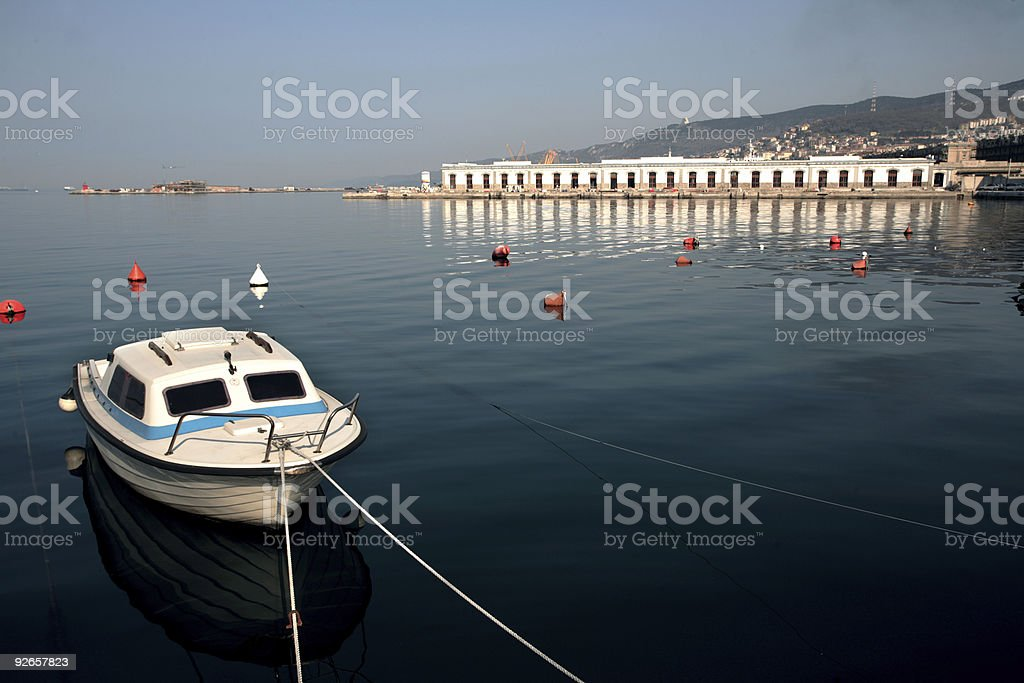 floating boat royalty-free stock photo