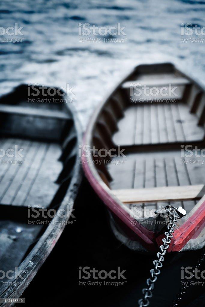 Floating Boats royalty-free stock photo