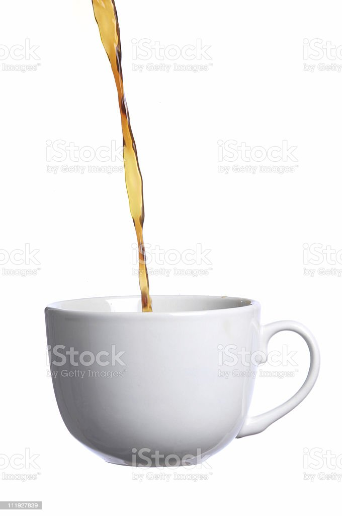 Floating Coffee royalty-free stock photo