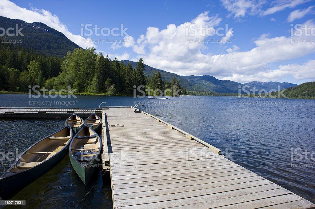 Floating dock stock photo