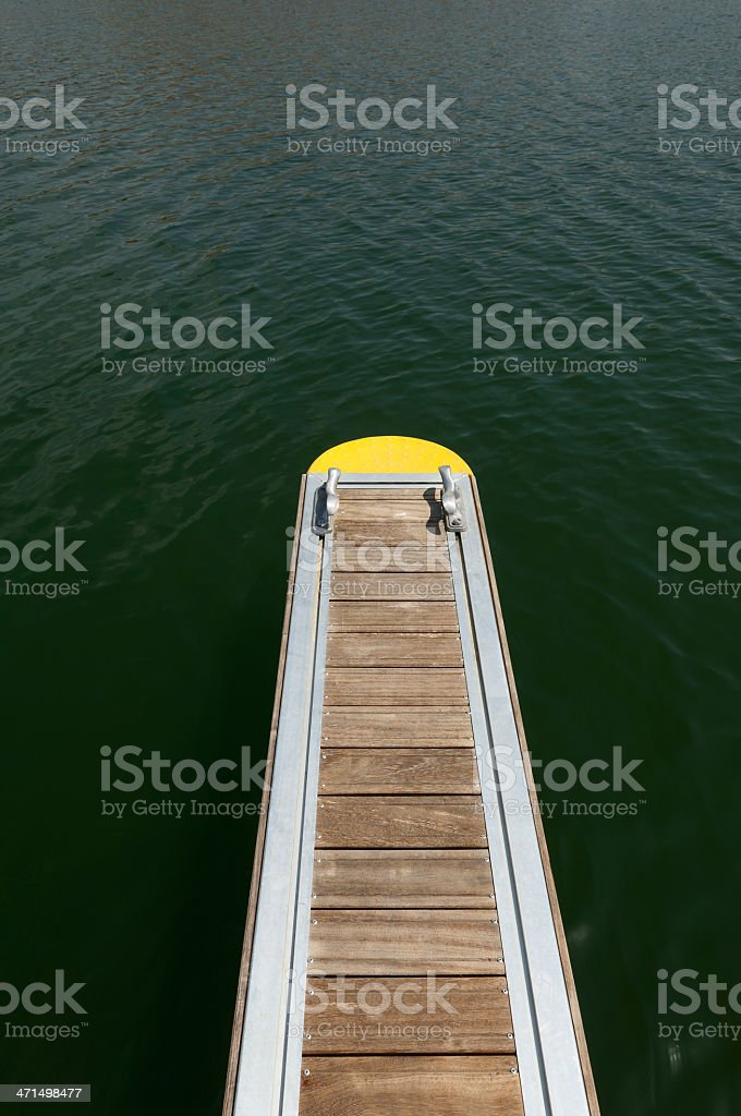 Floating dock royalty-free stock photo