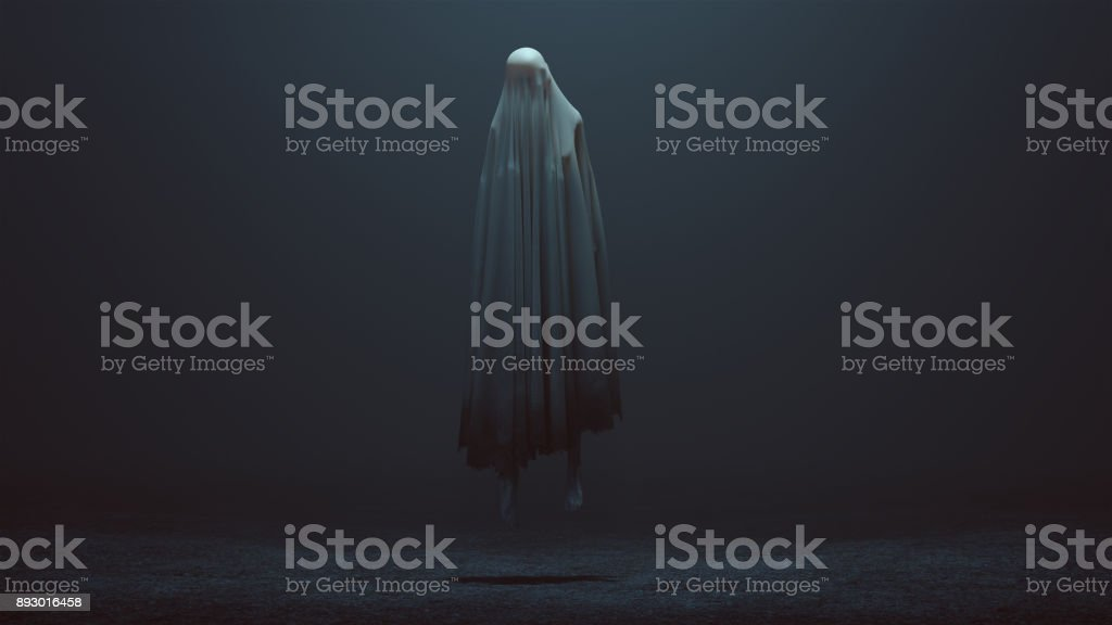 Floating Evil Spirit in a foggy void royalty-free stock photo