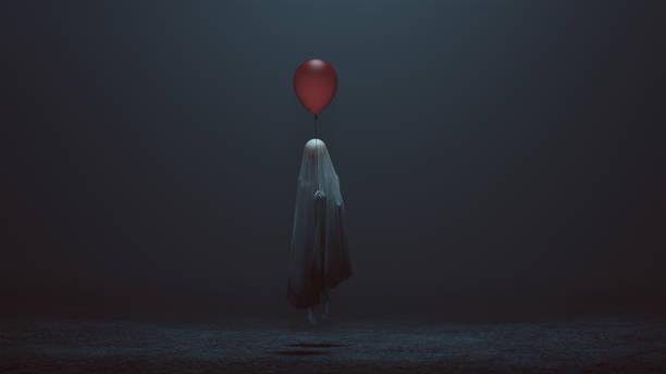 Floating evil spirit of a child with a red balloon in a foggy void picture id966346898?b=1&k=6&m=966346898&s=612x612&w=0&h=cxr2yeikibt0egzlsju4c1askuyvmascygvwelcbhcs=