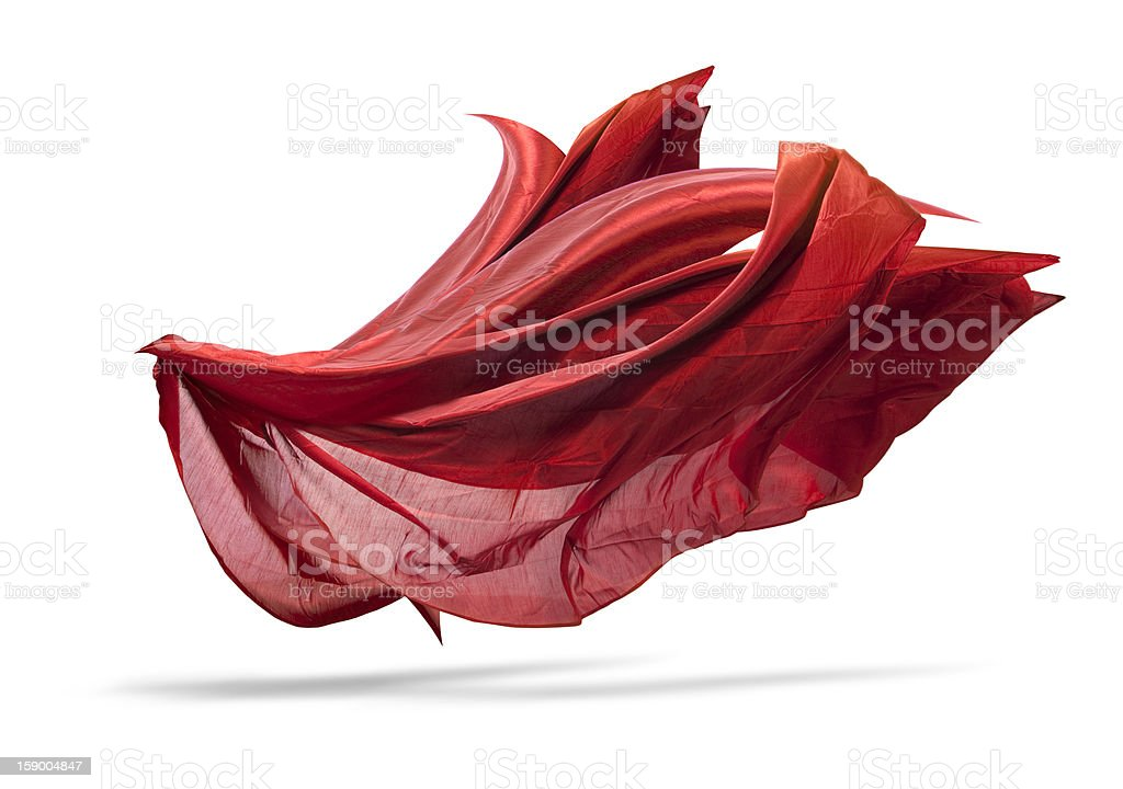 Floating fabric stock photo