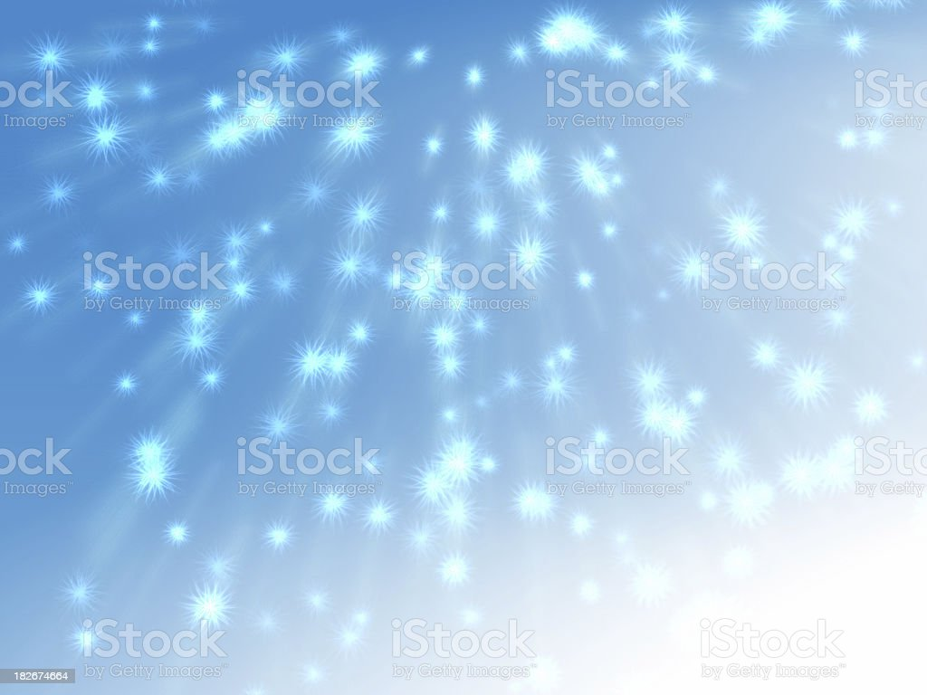 floating feather, snow particles royalty-free stock photo