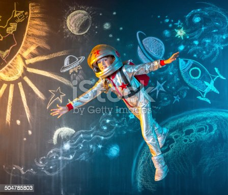 istock Floating free in space 504785803
