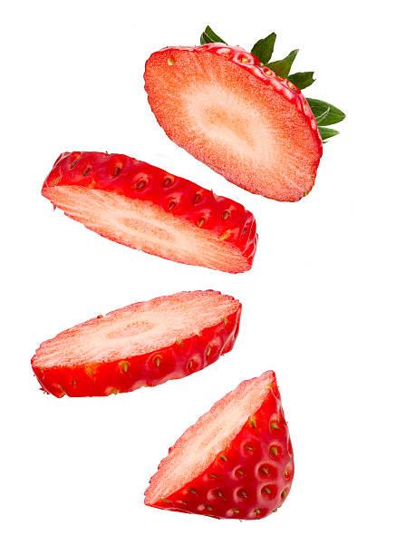 Galleggiante di fragole fresca - foto stock
