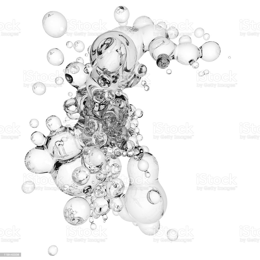 Floating glass bubble sculpture  stock photo