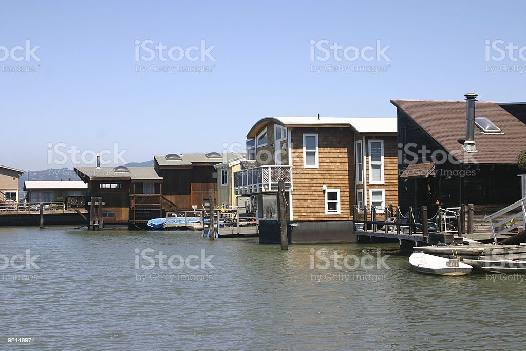 Floating homes royalty-free stock photo