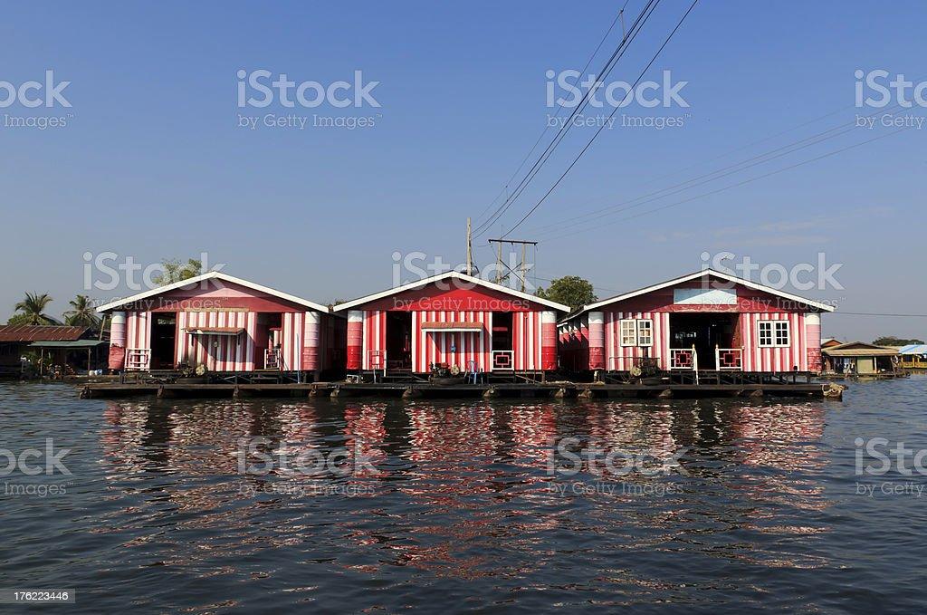 Floating house royalty-free stock photo