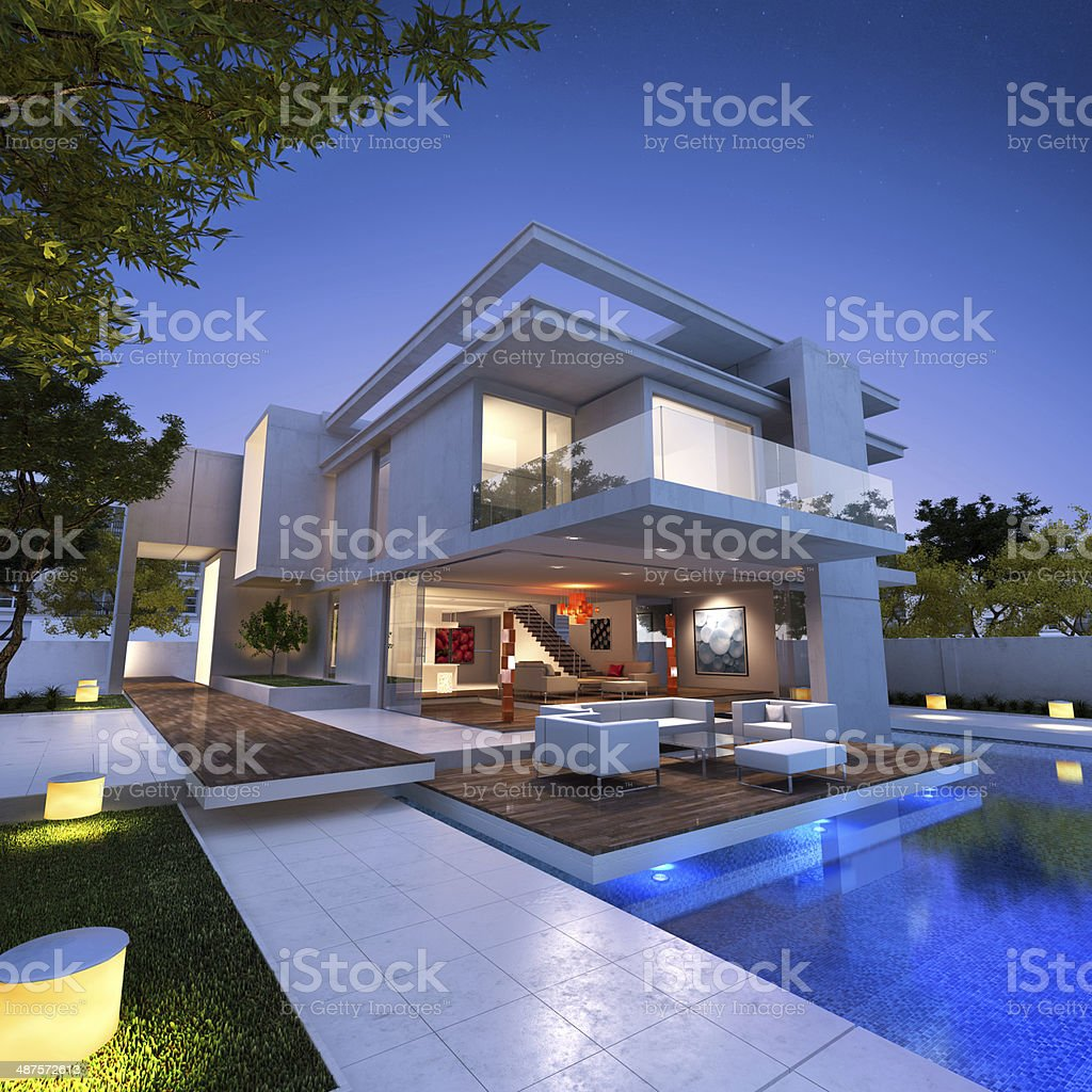 floating house stock photo