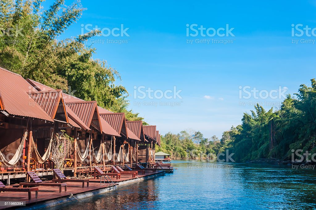 floating house stock photo