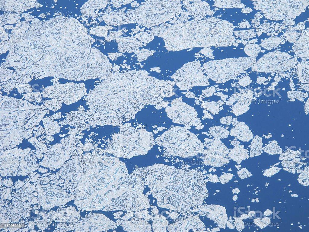 Floating Ice in Arctic Ocean stock photo