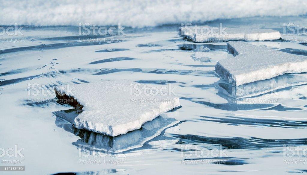 Floating Ice stock photo