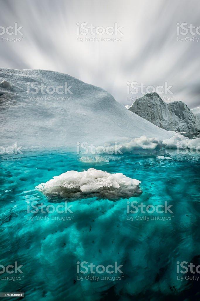 Floating Iceberg Greenland Ilulissat stock photo