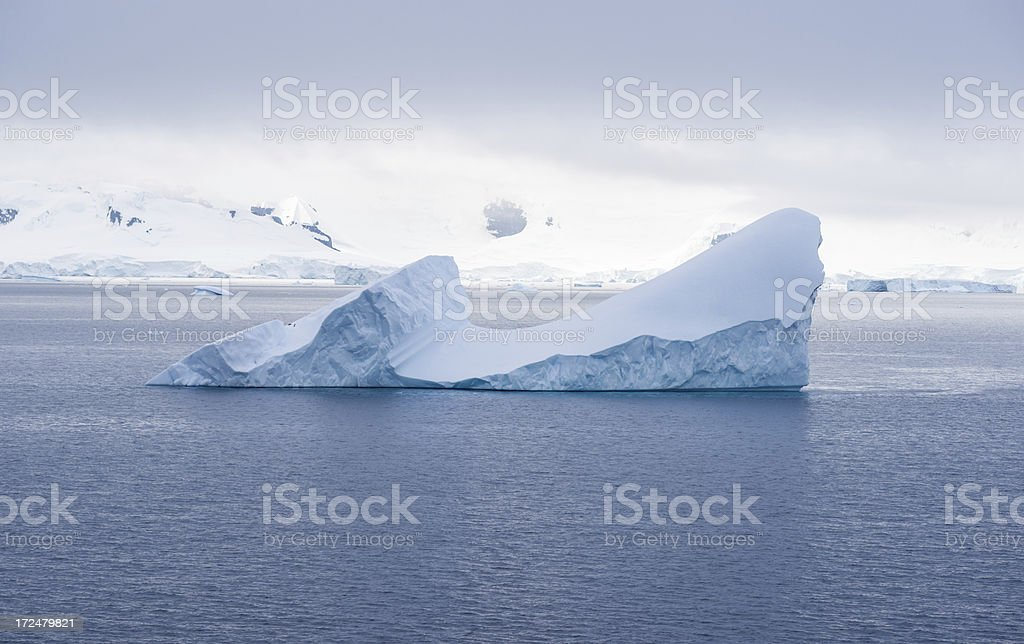 Floating Iceberg in Antarctica royalty-free stock photo
