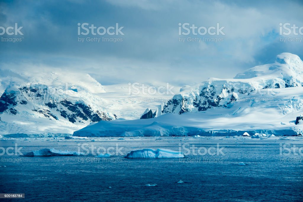 Floating Iceberg near Antarctica stock photo