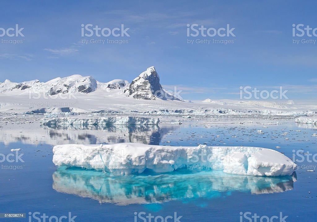 Floating iceberg stock photo