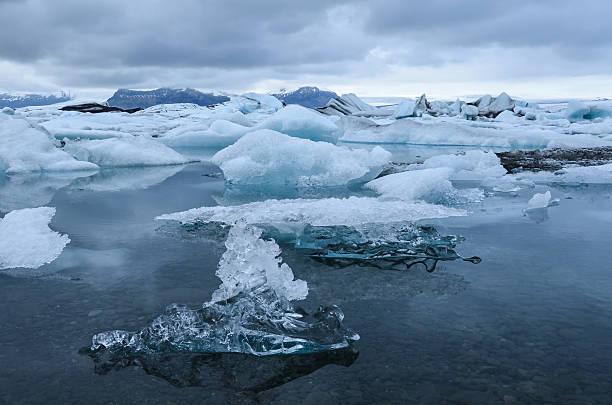 Floating Icebergs, Iceland stock photo