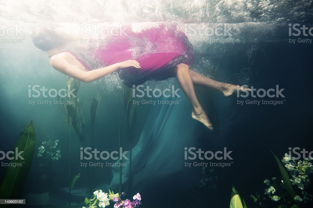 floating in dreams stock photo