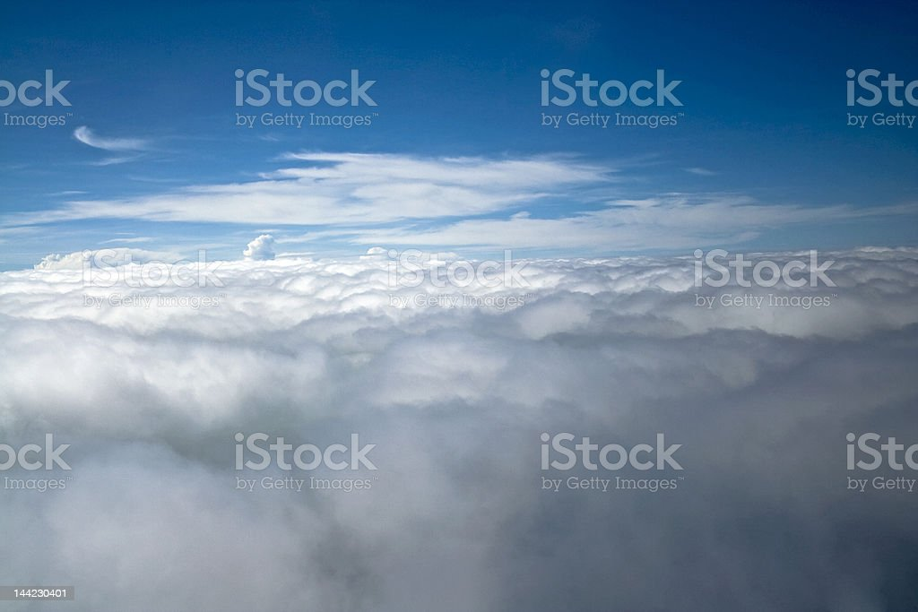 Floating in the Clouds royalty-free stock photo