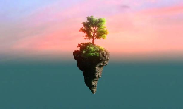 floating island - surrealistyczny zdjęcia i obrazy z banku zdjęć