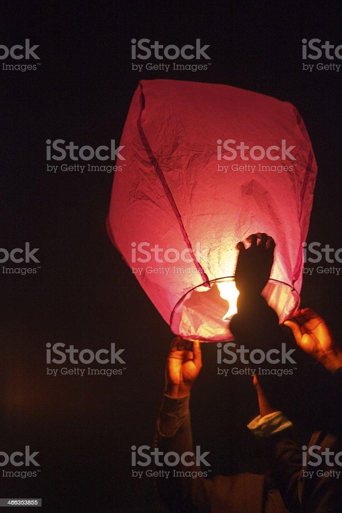 Floating Lantern royalty-free stock photo