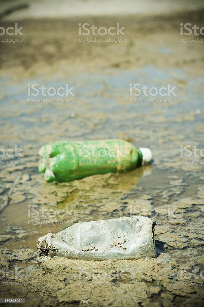 Floating Litter stock photo