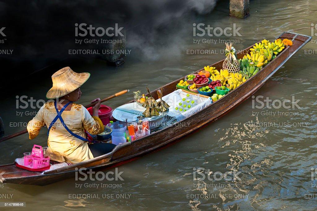 Floating Market, Bankok stock photo