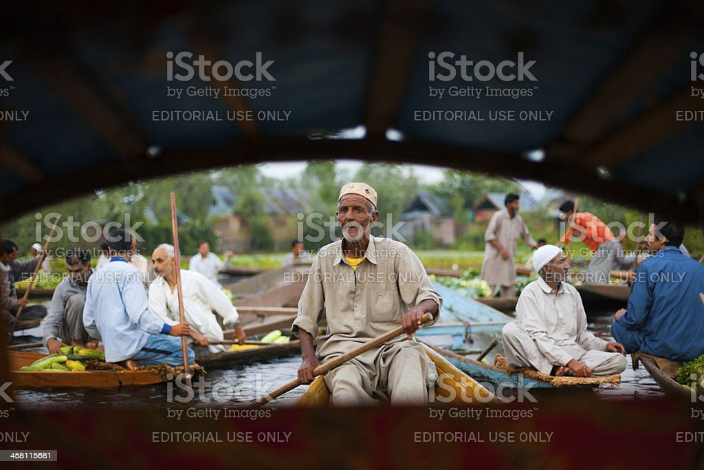 Floating Market Boat Man Driver Stock Photo & More Pictures of ... on