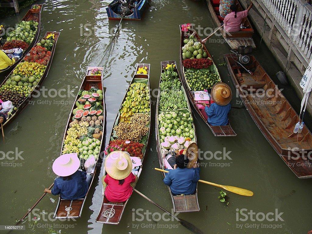 Floating Market in Bangkok 3 royalty-free stock photo