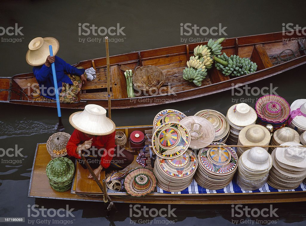 Floating Market in Bangkok Thailand stock photo