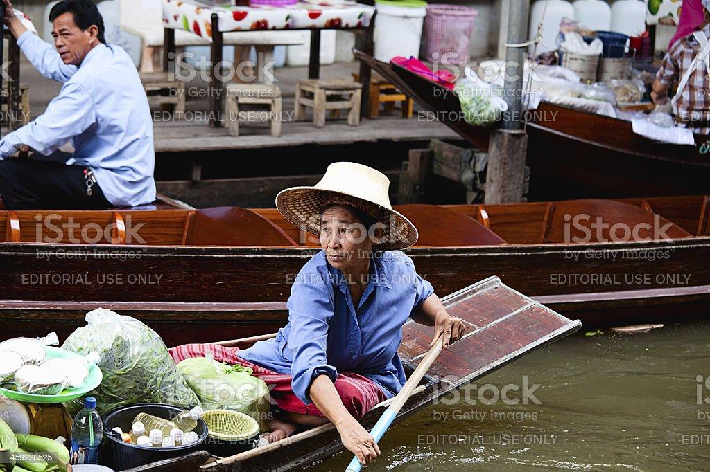 Floating Market in Bangkok, Thailand stock photo