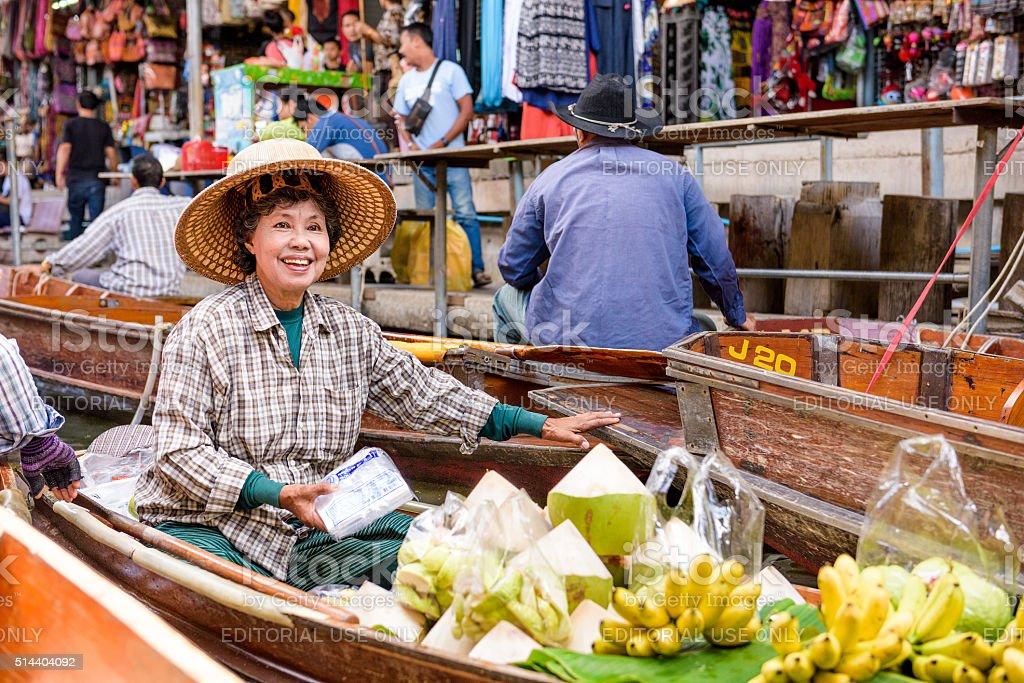 Floating Market of Thailand stock photo
