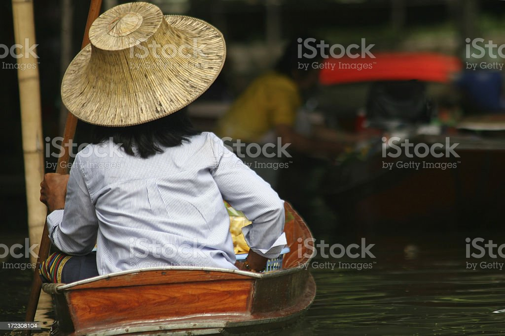 Floating market royalty-free stock photo
