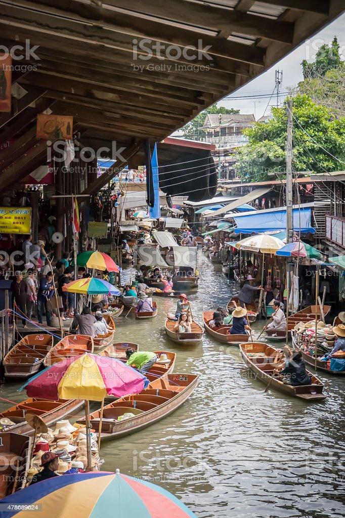 Floating Market (Thailand) stock photo