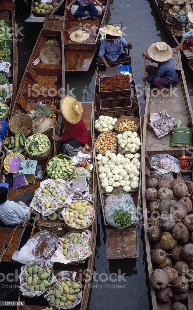 Floating Market Thailand stock photo