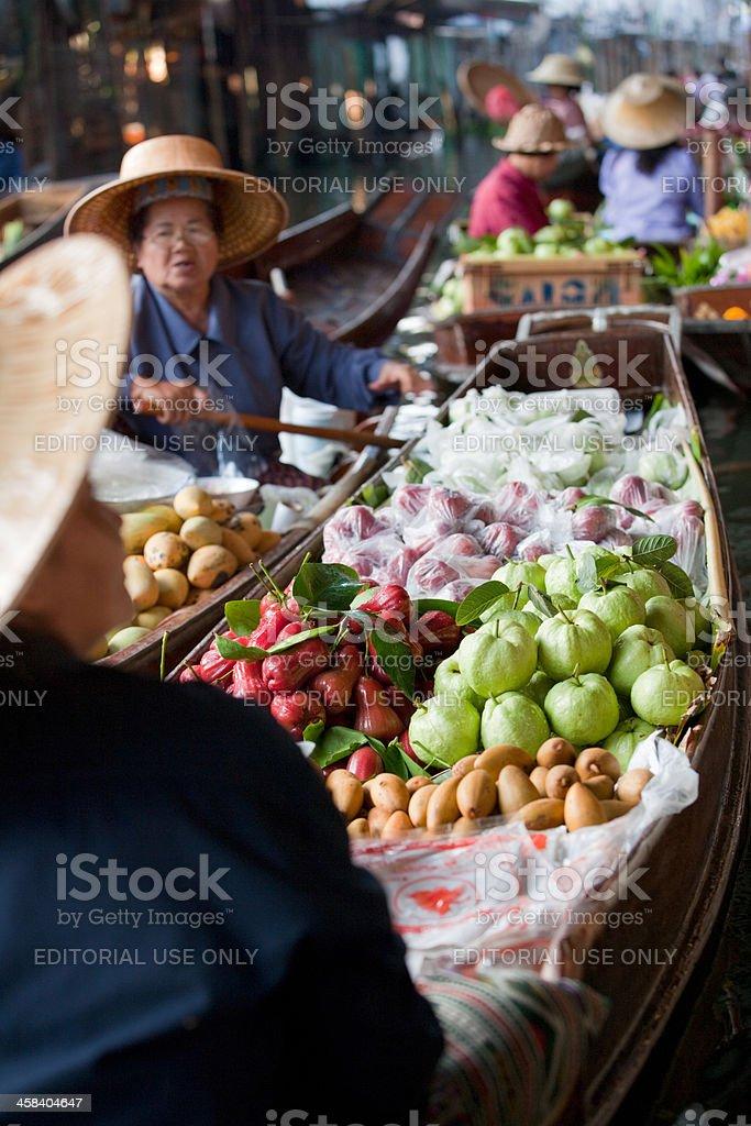 Floating Market - Thailand royalty-free stock photo
