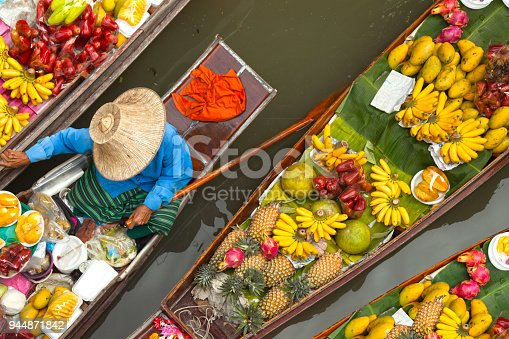 floating boats at floating market