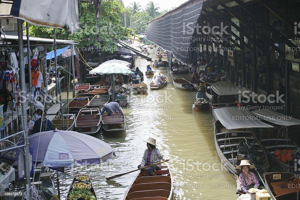 Floating markets in Damnoen Saduak royalty-free stock photo