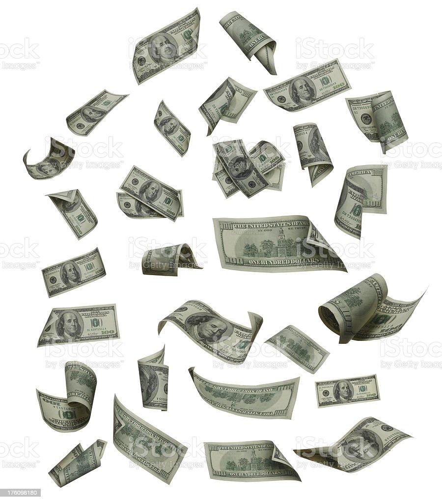 Floating Money stock photo