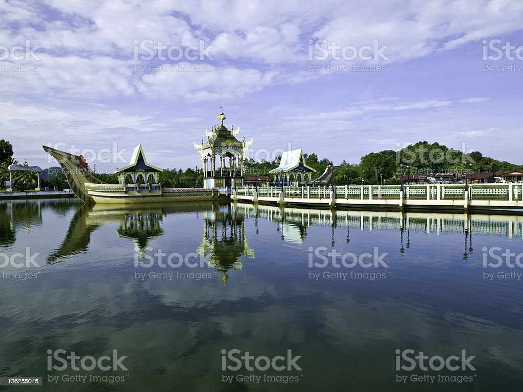Floating Mosque in Brunei stock photo