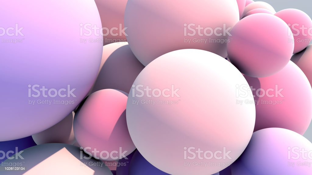 Floating Multicolored Balls Background stock photo